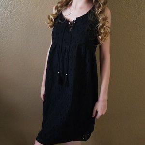 Knox Rose Black Eyelet Dress Sz M